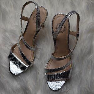 I.Miller size 6.5 silver formal strappy heels
